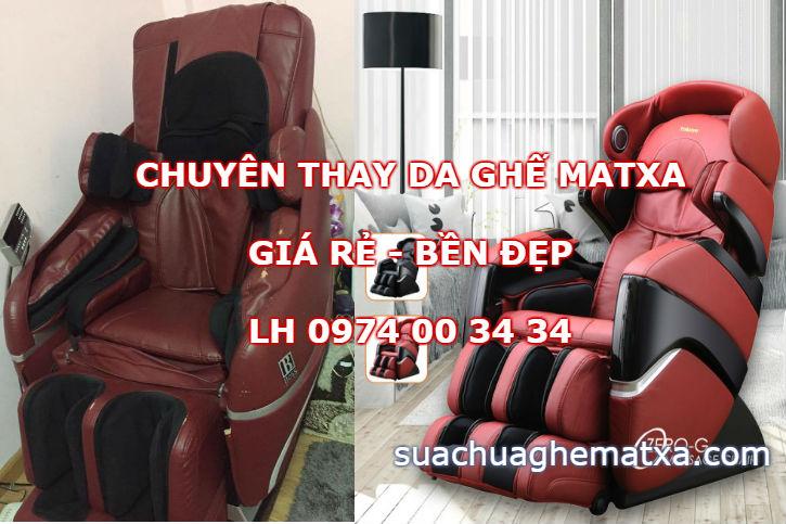 Cách chọn thay da ghế matxa bền đẹp giá rẻ