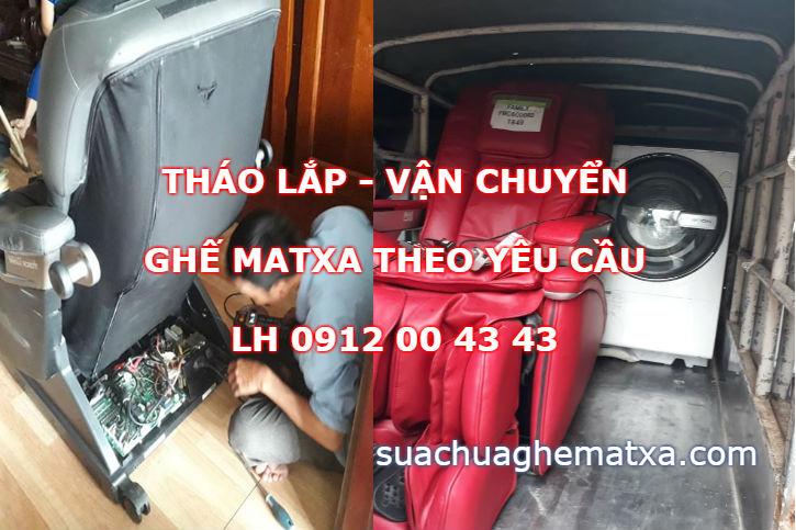 Tháo lắp vận chuyển ghế matxa